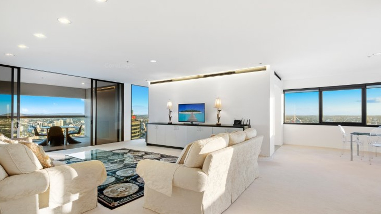 Inside the apartment at 4105/71 Eagle St, Brisbane CBD, which is for rent. Image: CoreLogic.