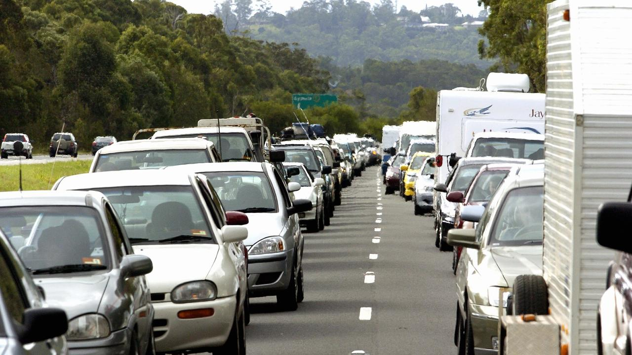 FILE PHOTO: Traffic is delayed on the Bruce Highway after a truck and car crash at Forest Glen.