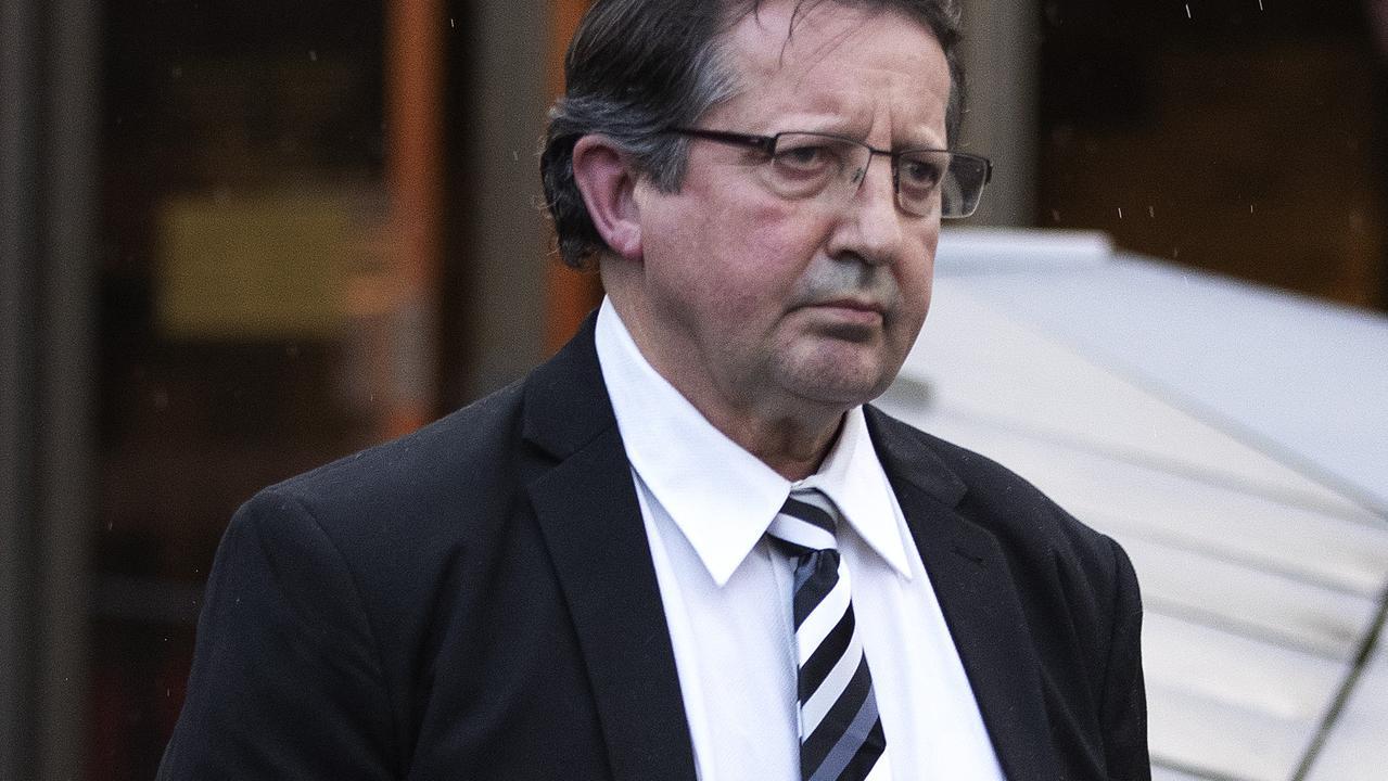 Sean Peter Burk leaves the Supreme Court of Tasmania, Hobart. Picture Chris Kidd