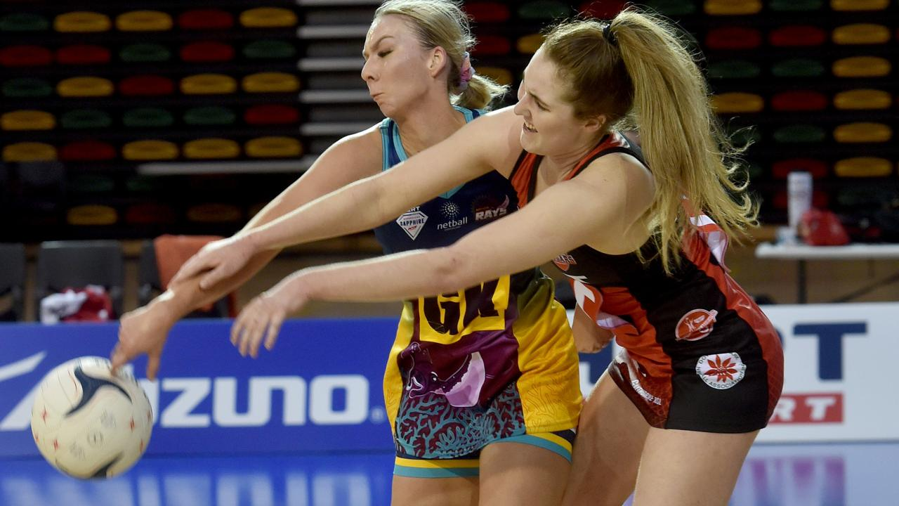 Toowoomba netballer Mia Stower (right) has joined the Queensland Firebirds. Picture: Evan Morgan