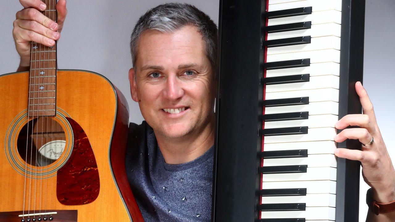 Simon Hunter, from Barwon Heads in Victoria, has taken up the piano again. Picture: Glenn Ferguson