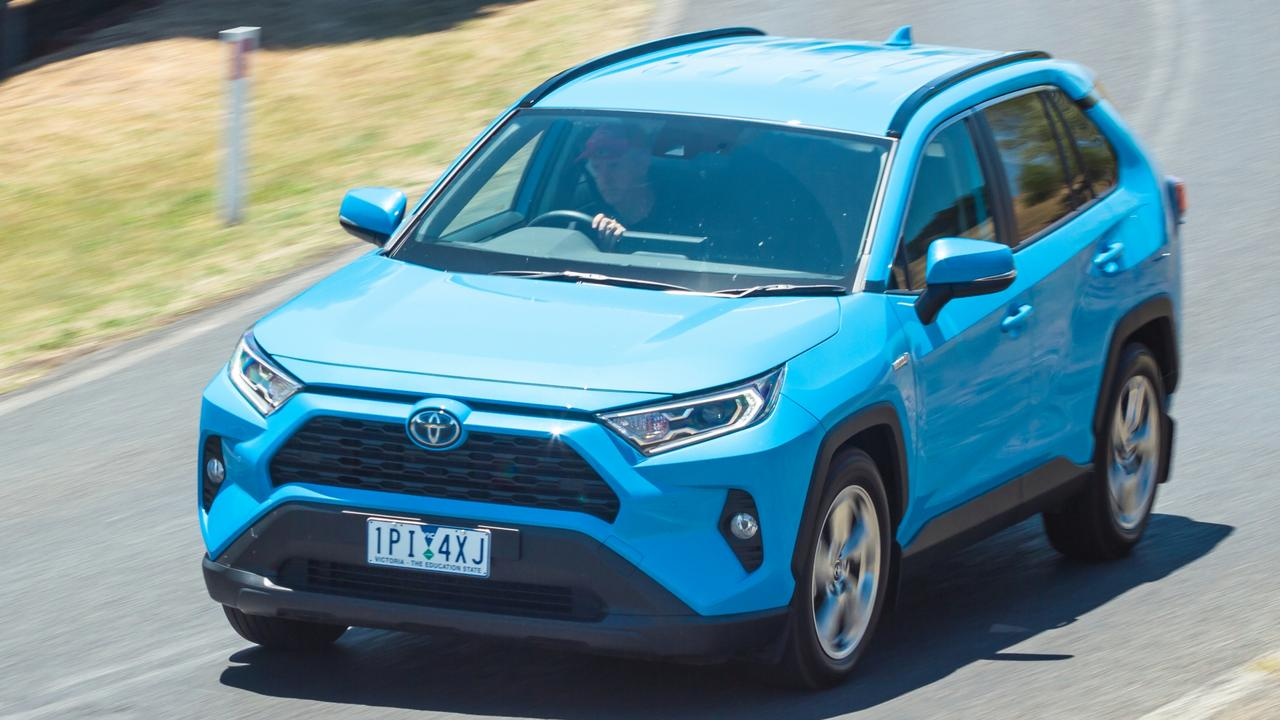Photo of the Toyota RAV4 at 2019 Car of the Year testing. Photo: Thomas Wielecki.
