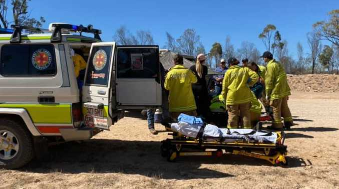 Biker seriously injured on 'notorious' dirt road