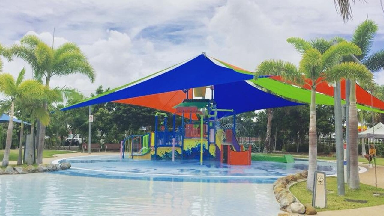 The children's play area at the lagoon is being replaced with a new softfall surface and splash pad. Picture: Contributed