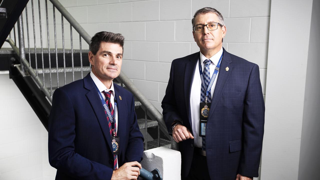 Detective Senior Sergeant Paul Fletcher (left) and Detective Inspector Mark White. Picture: NIGEL HALLETT.
