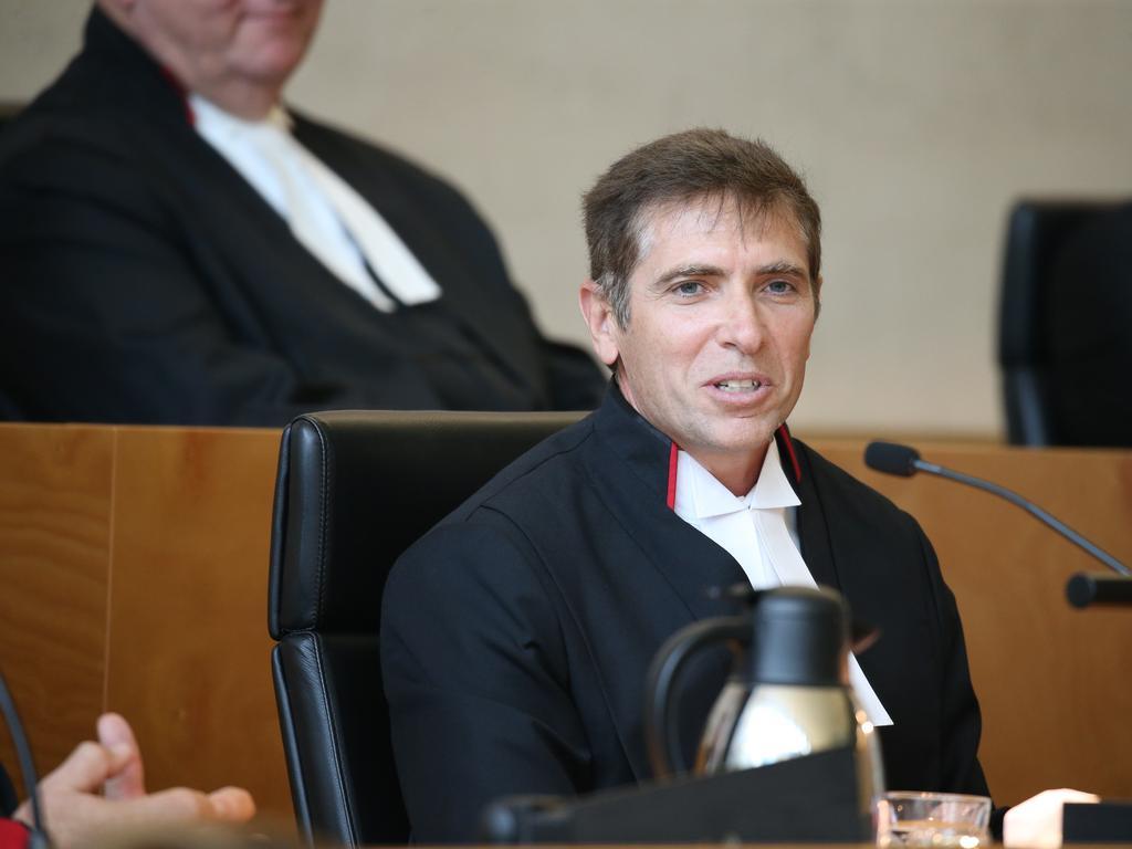 FILE IMAGE: Justice Graeme Crow. Pic Annette Dew