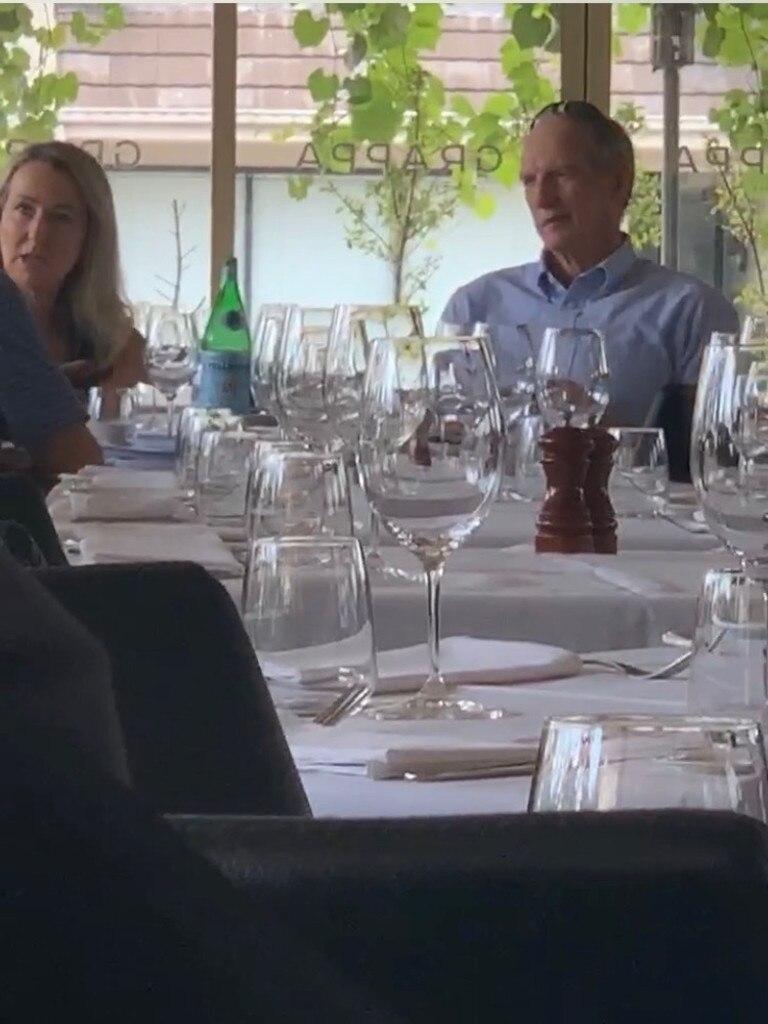 Wayne Bennett at Grappa restaurant in Leichhardt. Picture – Supplied