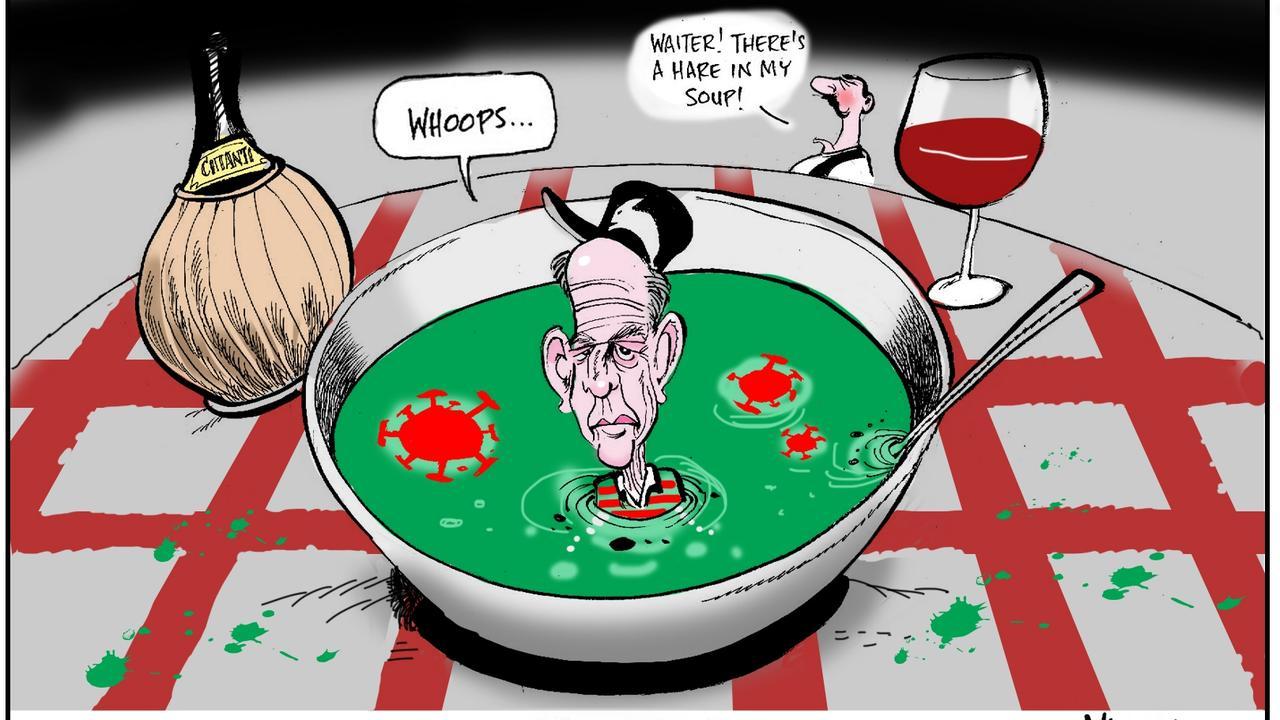 Warren Brown Cartoon for Daily Telegraph edition Friday 07/08/2020.