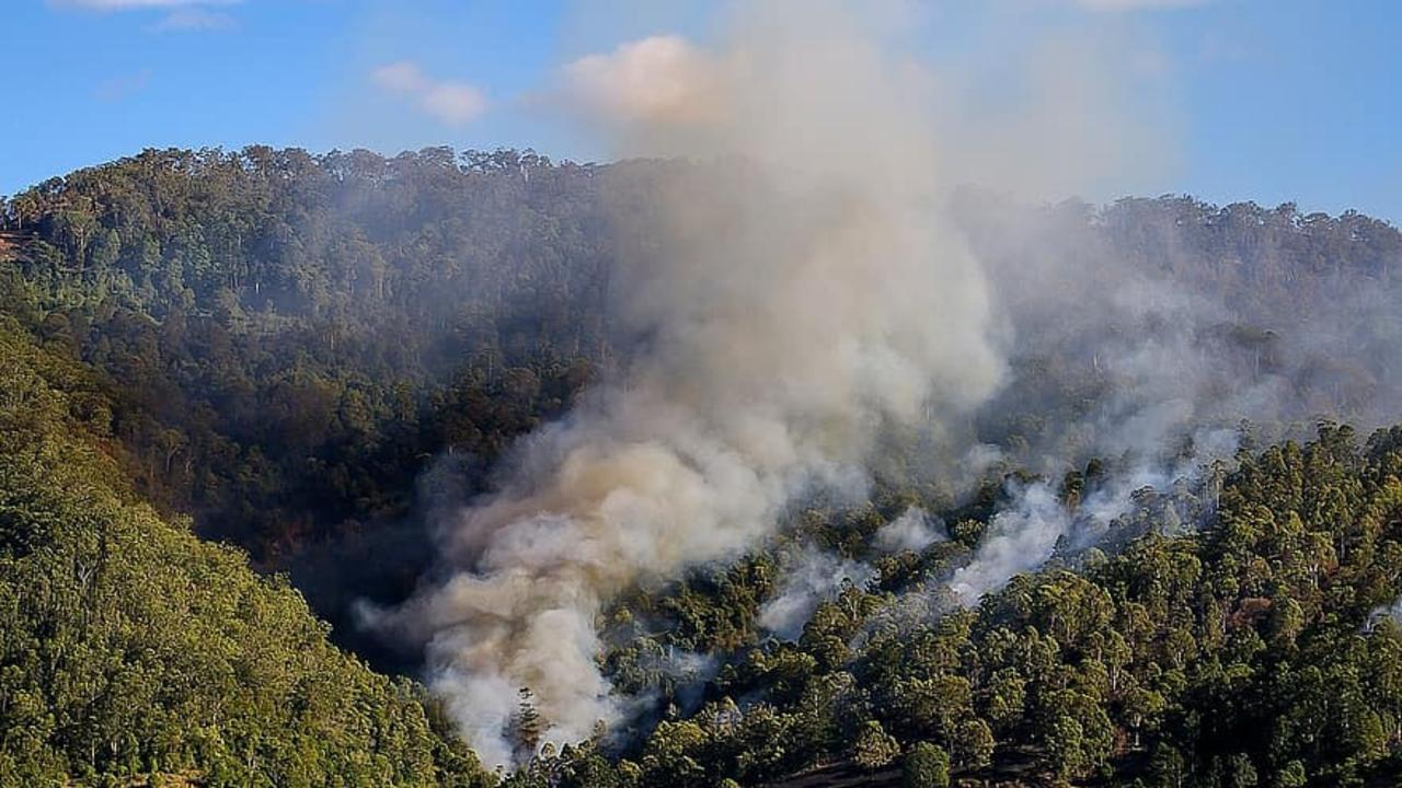 Campers have been forced to cancel their plans due to a wildfire burning through Mount Walsh National Park. File Photo.
