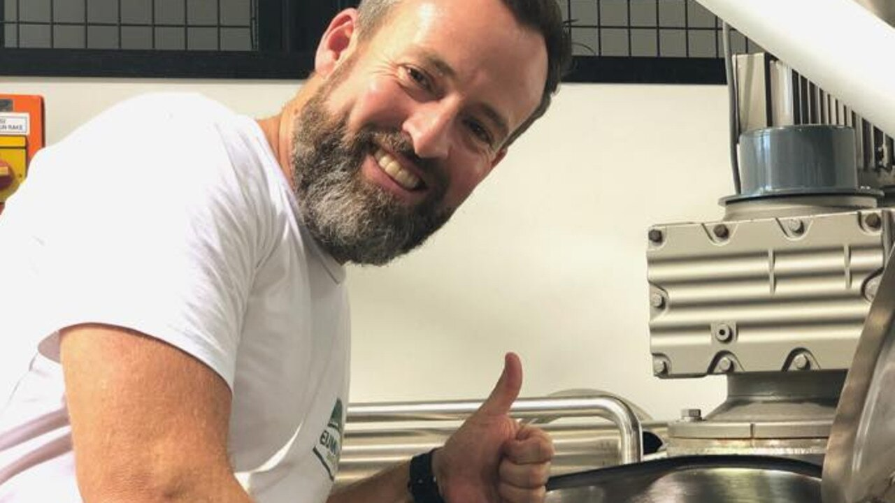 Head Eumundi brewer Chris Sheehan gives the thumbs up to International Beer Day.