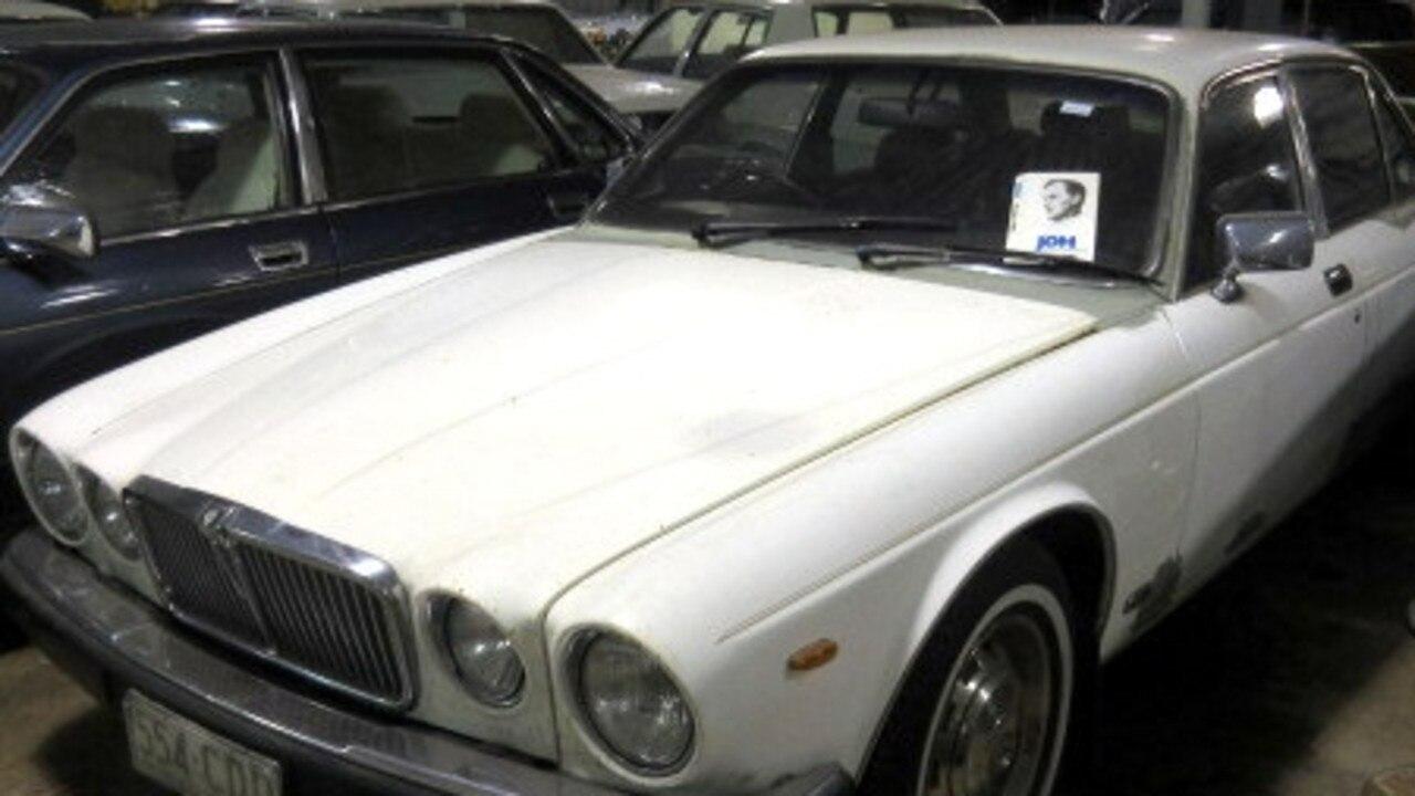 Joh Bjelke-Petersen's 1982 Jaguar Sovereign, current bid $6,700. (Picture: Lloyds Auctions)