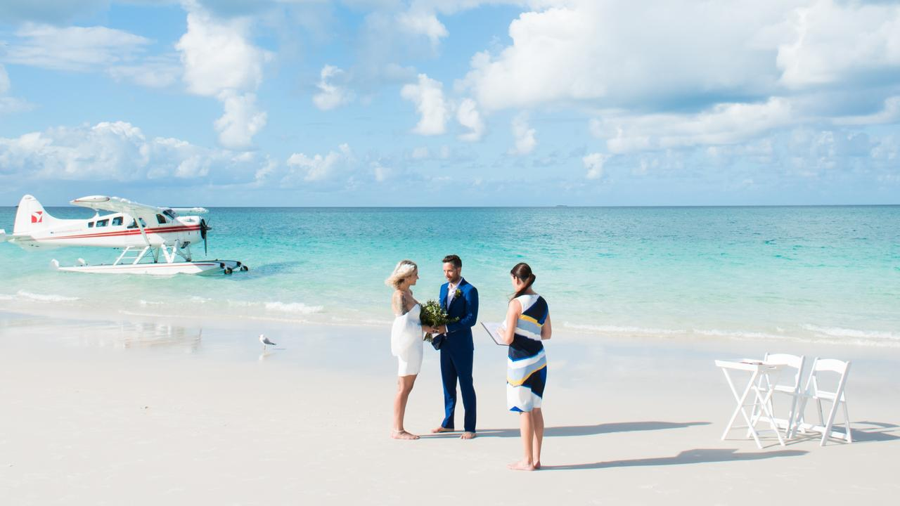 Smaller Whitsunday weddings have become popular as a result of coronavirus restrictions and travel bans. Picture: Tropix Photography