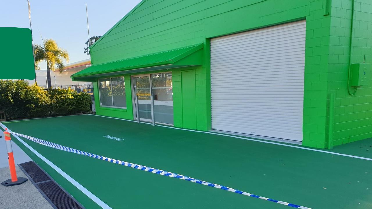 Is it a tennis court? Questions surrounded new Noosaville business Paddy O'Shea's Tyre and Mechanical workshop..