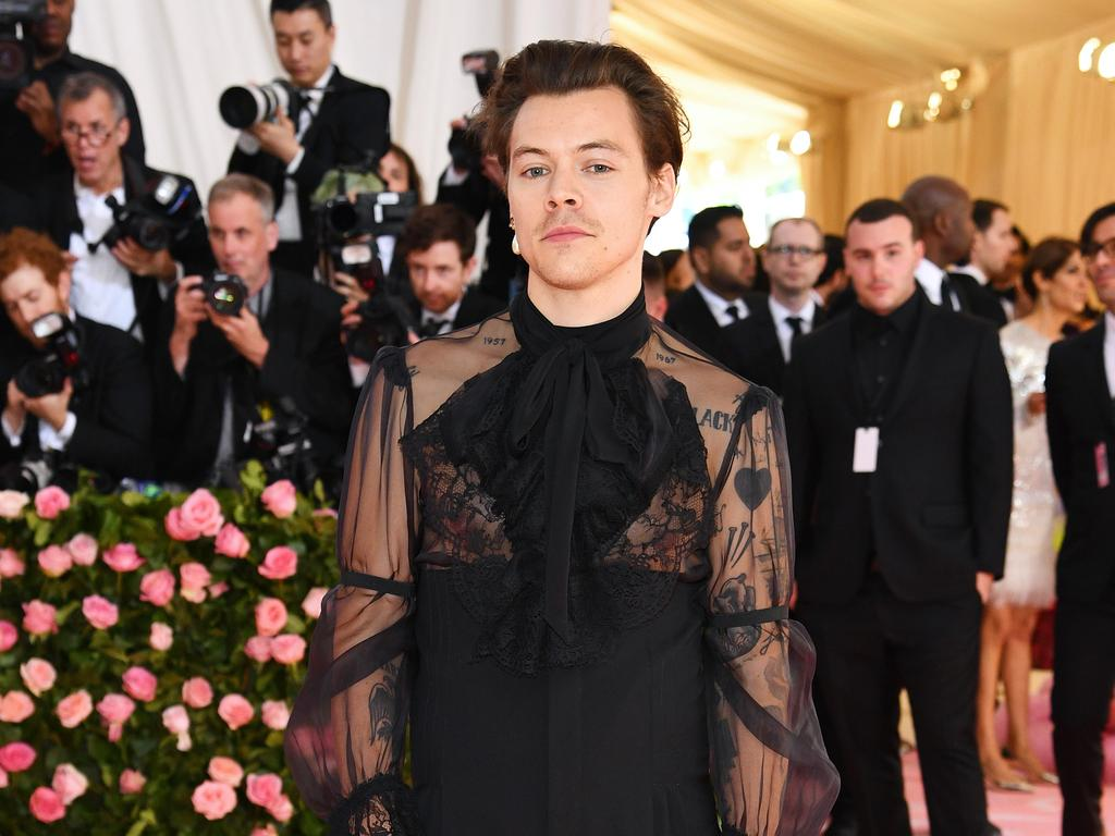 Harry Styles at The 2019 Met Gala. Picture: Dimitrios Kambouris/Getty Images for The Met Museum/Vogue