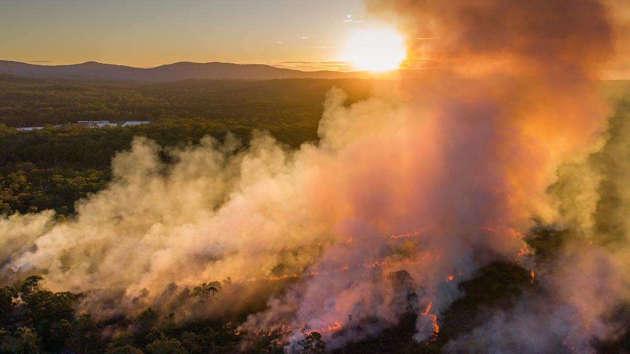National Parks and Wildlife Service hazard reduction burn at Garby Nature Reserve on the western side of Arrawarra Road at Mullaway.