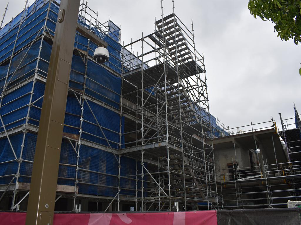 Construction progress on the Rockhampton Museum of Art.