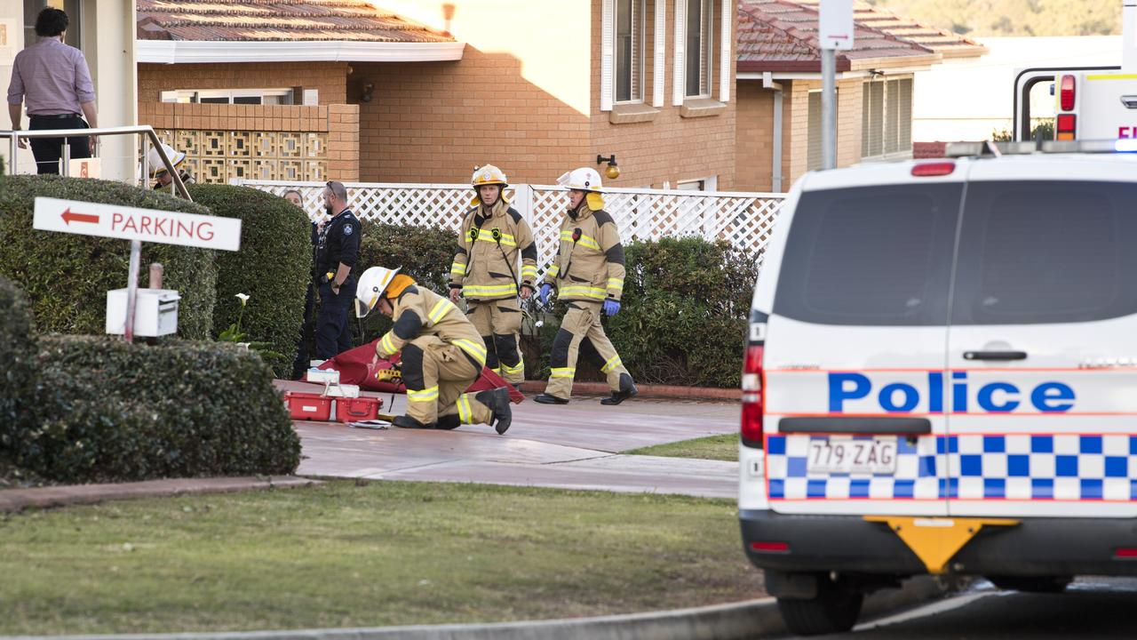 Emergency services called to gas explosion at corner of West and Conloi streets yesterday.