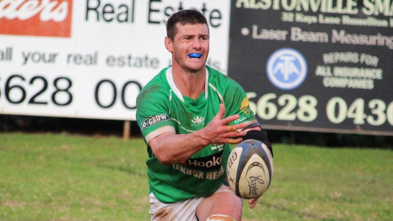NEW RECRUIT: Former Rugby Union professional Berrick Barnes said he's thrilled be playing with his beloved local team the Lennox Head Trojans. Photo: to John Bungate – Lennox Head Rugby Club