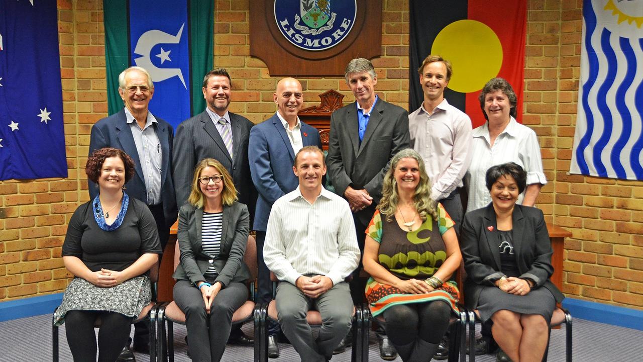 Lismore City Council's councillors, until this week. Photo: Lismore City Council