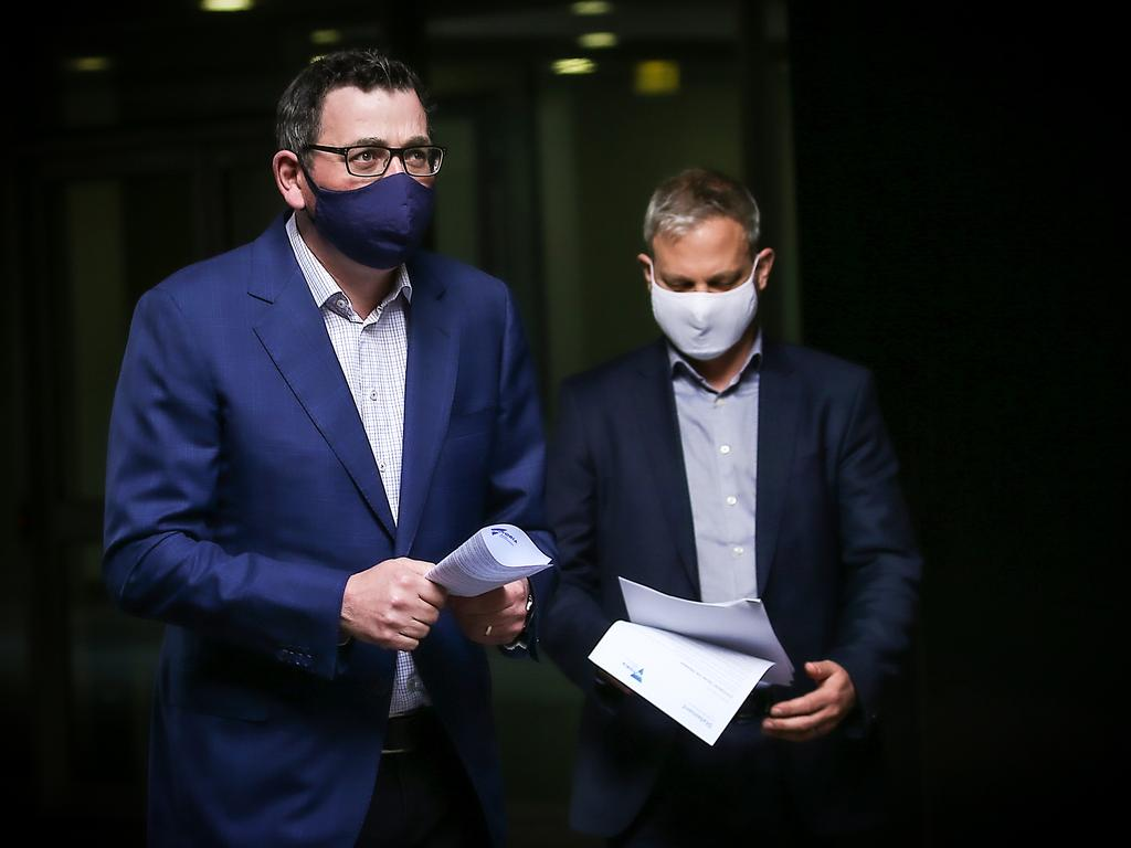 Victorian Premier Daniel Andrews and Victorian Chief Health Officer Brett Sutton have led their state's virus response. Picture: NCA NewsWire / Ian Currie
