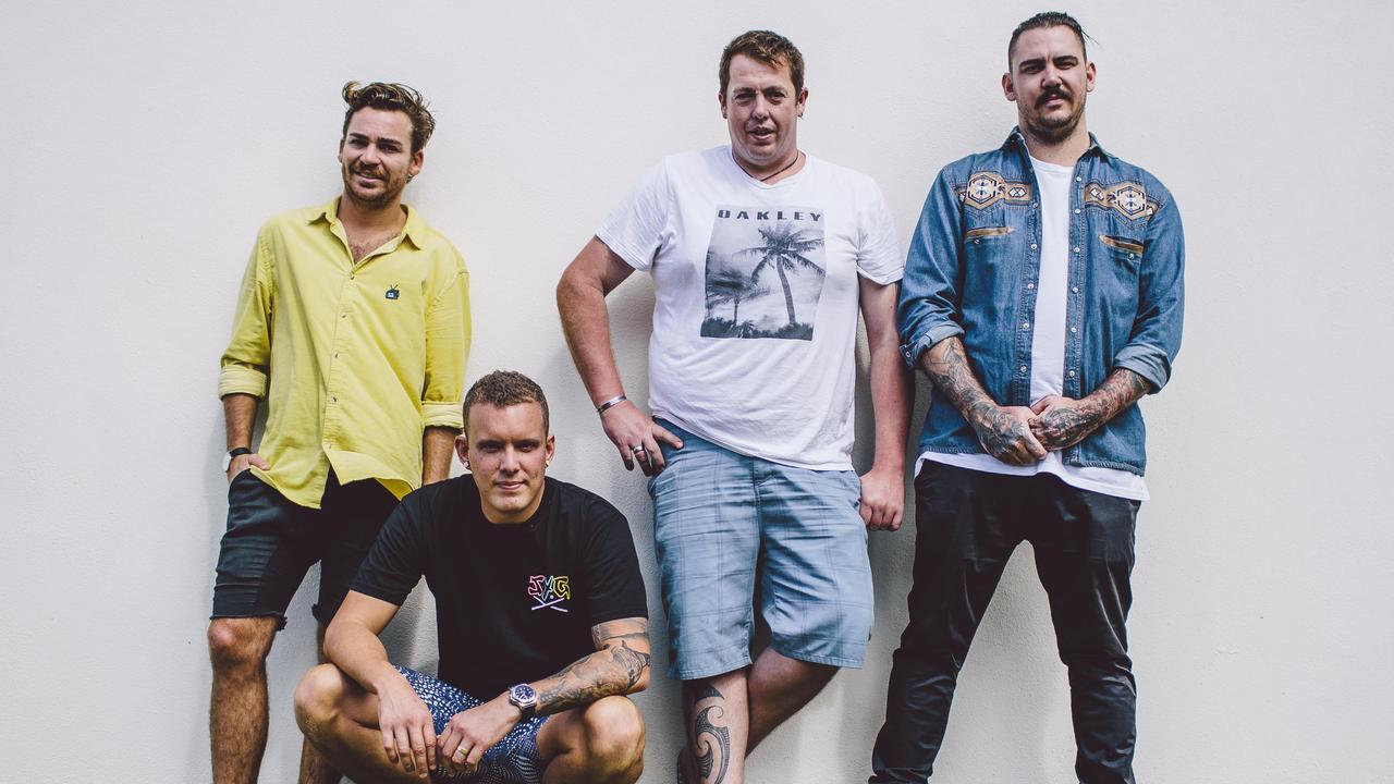 FRIENDS: Dylan Campbell, Michael 'Moe' Rickard, Matt Sinclair and Jeremiah Jones from Sum Yung Guys.