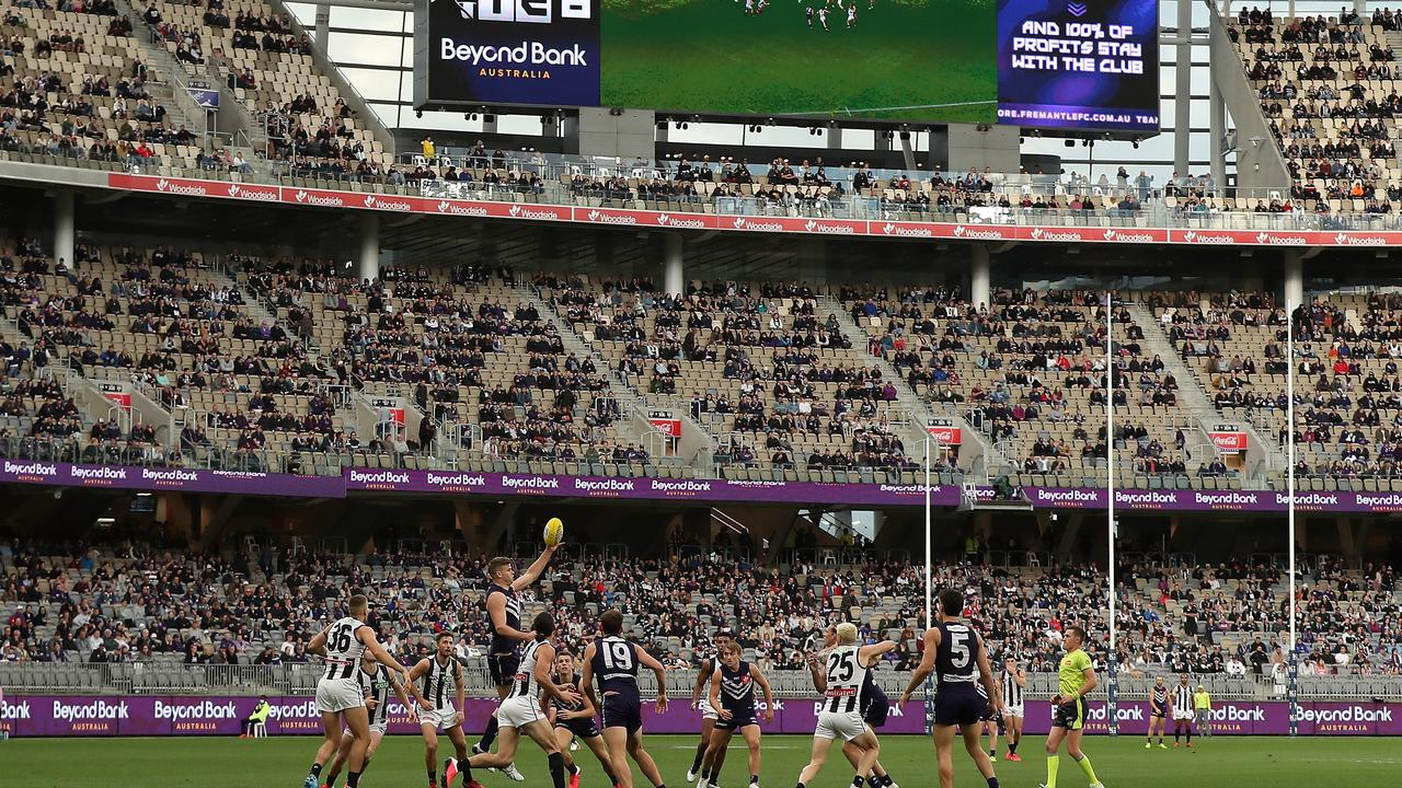 Football at Optus Stadium has been played in front of crowds. Picture: Getty Images