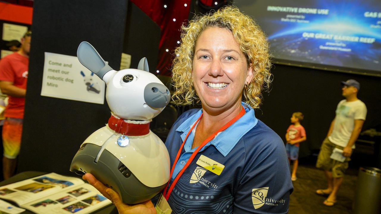 CQU's Linda Pfeiffer at the World science Festival Brisbane Gladstone Community day held at Gladstone Entertainment Convention Centre.