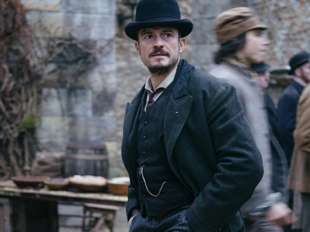 Orlando Bloom plays Detective Inspector Rycroft Philostrate in the TV series, Carnival Row. Picture: Jan Thijs/Amazon Prime