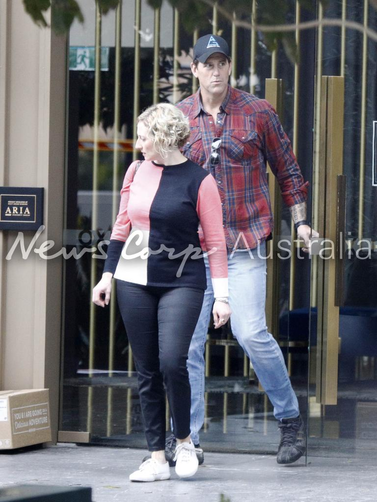 Ben Roberts-Smith with his lawyer Monica Allen in Brisbane. Picture: WP Media