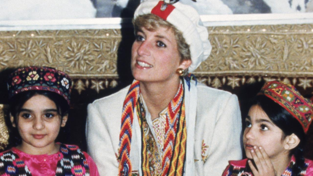 The Princess of Wales during a visit to Chitral Scouts during a trip to Pakistan, September 1991. Picture: Getty