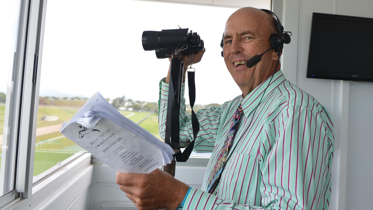 MILESTONE: Tony McMahon will call the races at the Gladstone Turf Club today, 50 years to the day since his first official race call in Lismore. Photo Lee Constable/Daily Mercury