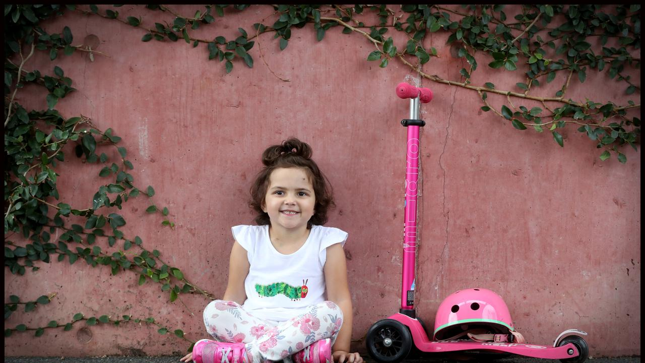 Little Ava Pearce is facing a frightening battle with a brain tumour. Picture: Jamie Hanson