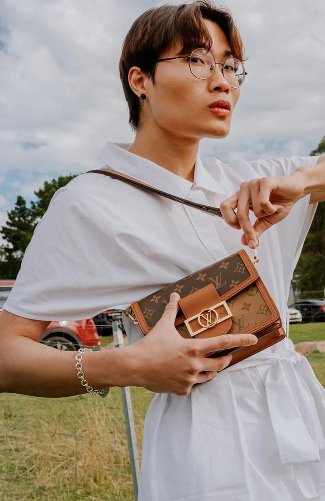 Trung Bao Le, 25, has been charged for allegedly stealing $50,000 worth of designer handbags in Sydney and Melbourne. Picture: Instagram