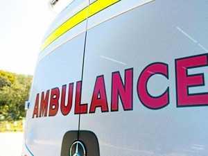 Car into pole and grassfire sparks call for paramedics