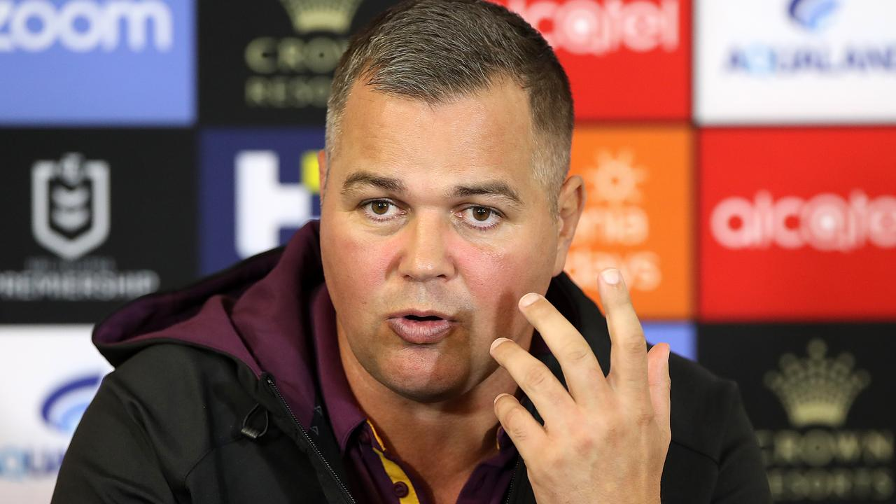 The Broncos will be without coach Anthony Seibold for at least two weeks as he stayed in Sydney while the team flew back to Brisbane.