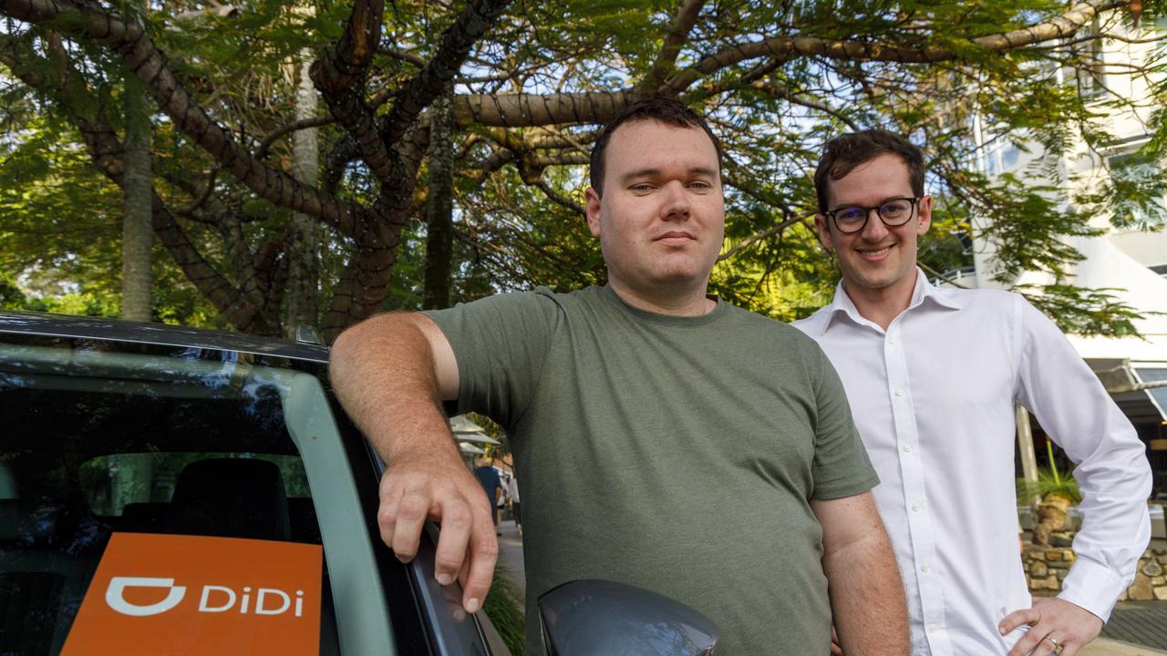 LAUNCH: DiDi Driver Michael Bradshaw and DiDi's representative Dan Jordan are excited about the launch.