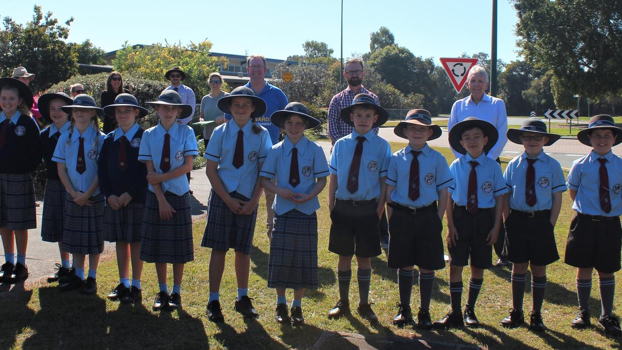 STUDENT SAFETY: State Member for Caloundra Mark McArdle says LNP Government will commit $200k to deliver flashing 40km/h signals, pedestrian crossing warning signals and pedestrian crossings at Caloundra City Private School. Picture: Supplied