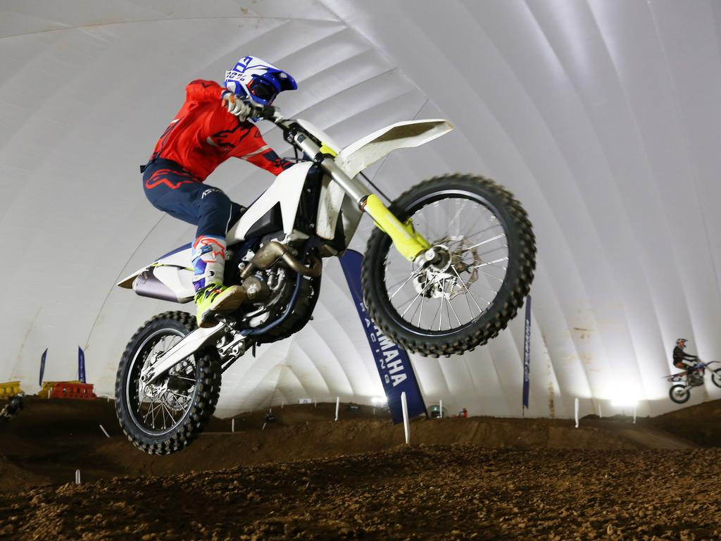 The Sydney Indoor MX Dome had only recently reopened after the coronavirus pandemic halted all sport. Picture: John Fotiadis