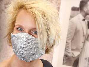 Face mask move saves dressmaker