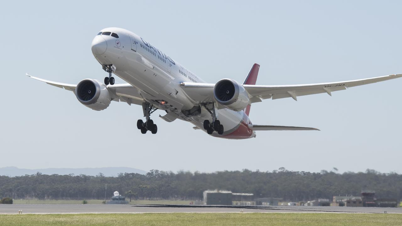 Qantas' Boeing 787 Dreamliner.