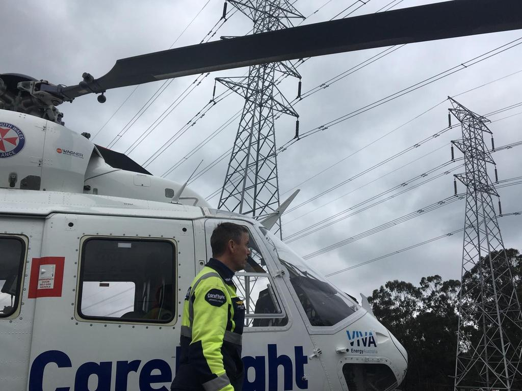 The boy and his family were struck by the bike, with CareFlight and paramedics treated the injured.