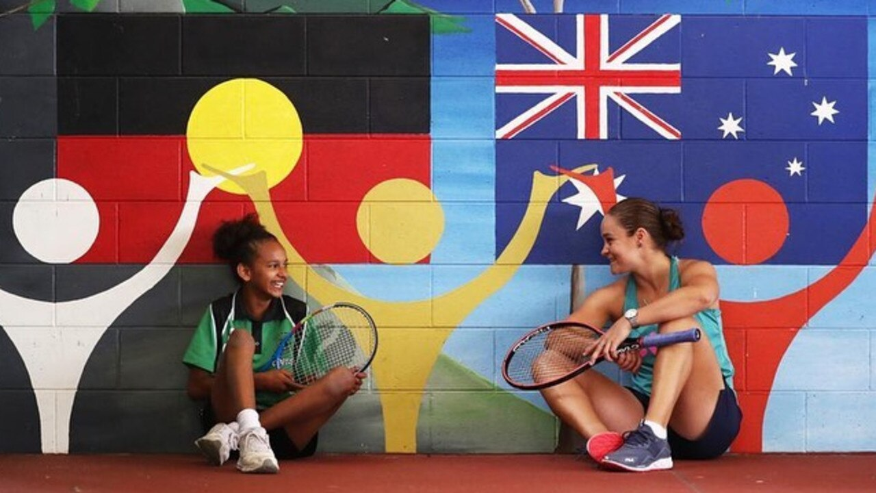 Queensland Tennis star Ash Barty has fronted an Indigenous tourism campaign for Tourism and Events Queensland. Picture: Instagram @ashbarty