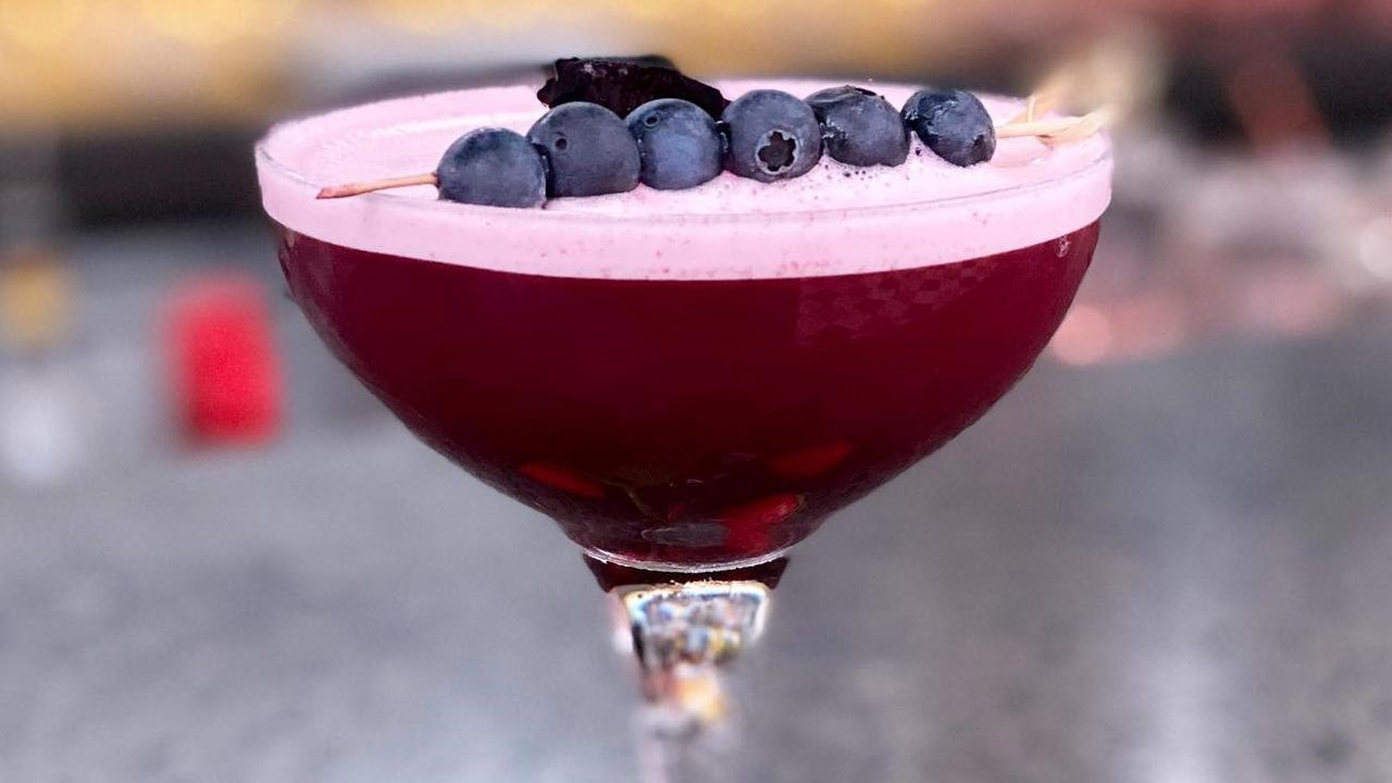 Heritage Lounge's blueberry cocktail. Picture: Supplied