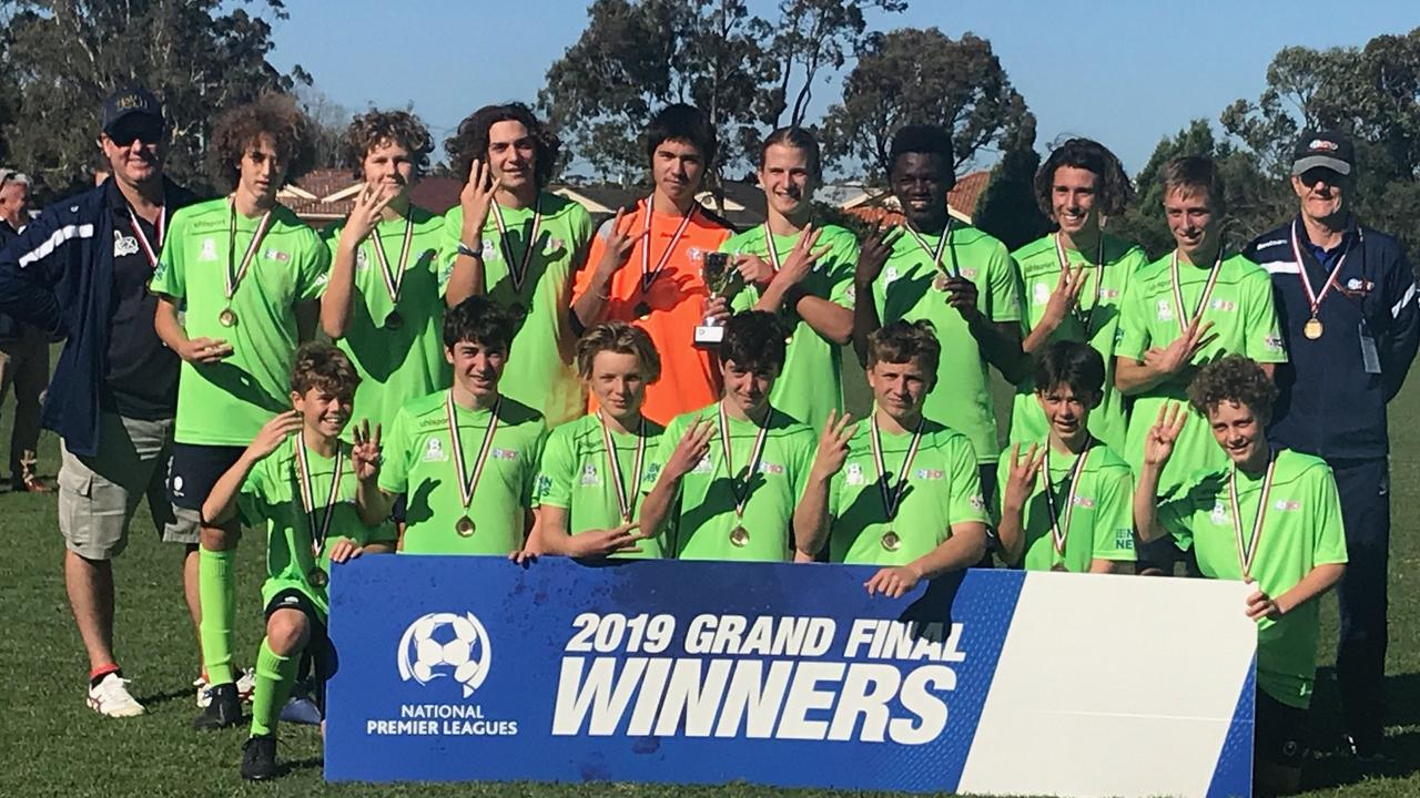 THREE IN A ROW: North Coast Football's under-15 NPL team won the title in 2019 with a 5-1 win over Hamilton Olympic.