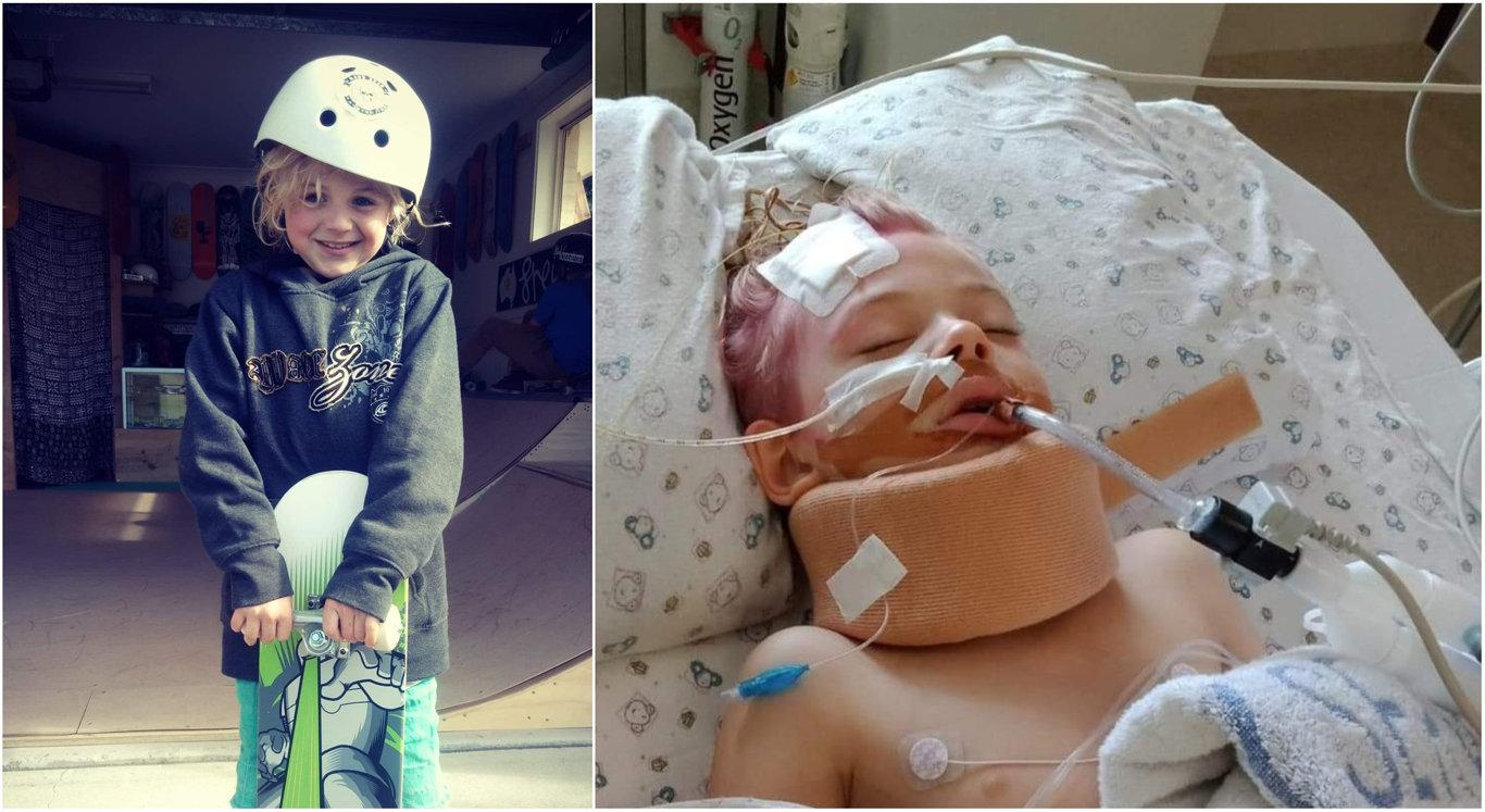 Ollie Waanders remains in Queensland Children's Hospital.
