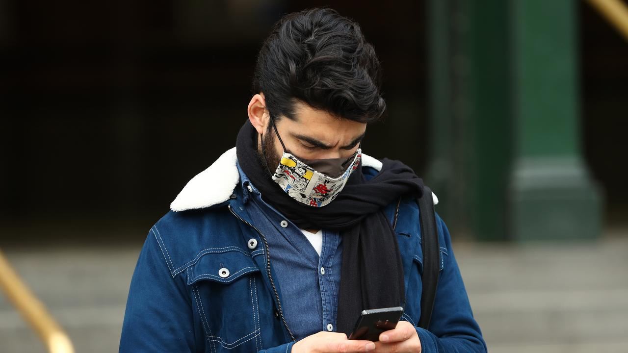 Melburnians who don't wear a face mask in public can be fined $200, while those who breach the city's curfew can face a $1652 fine. Picture: Robert Cianflone/Getty Images