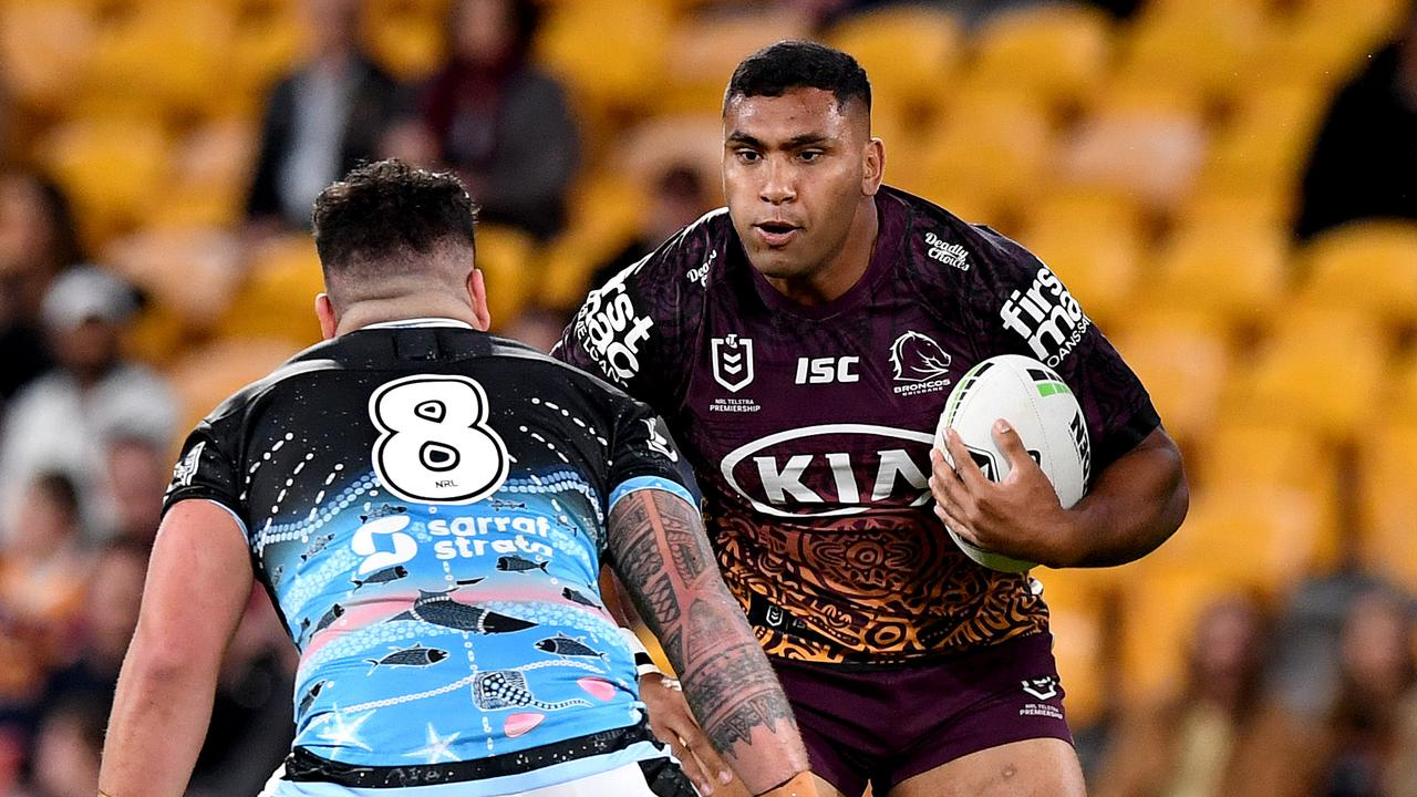 Tevita Pangai Jr has allegedly breached COVID-19 rules. Picture: Bradley Kanaris/Getty Images