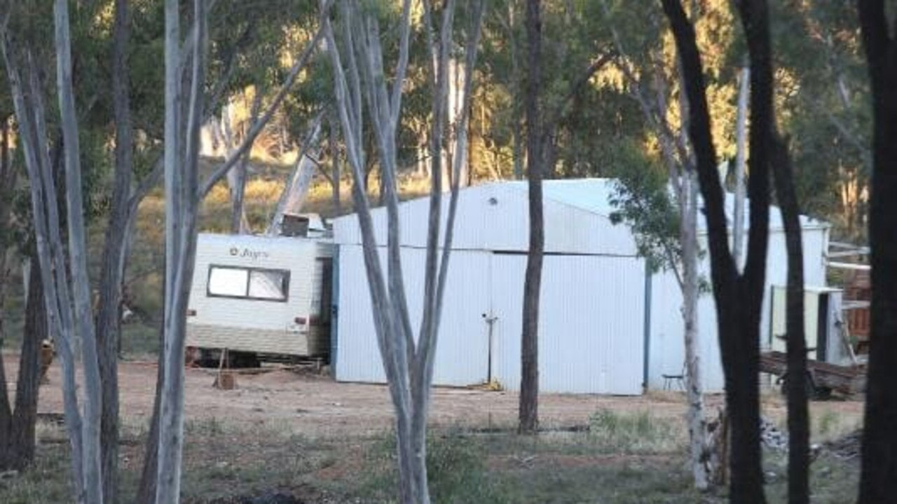 The shed on the farm where the Colt family is alleged to have lived. Picture: Candace Sutton