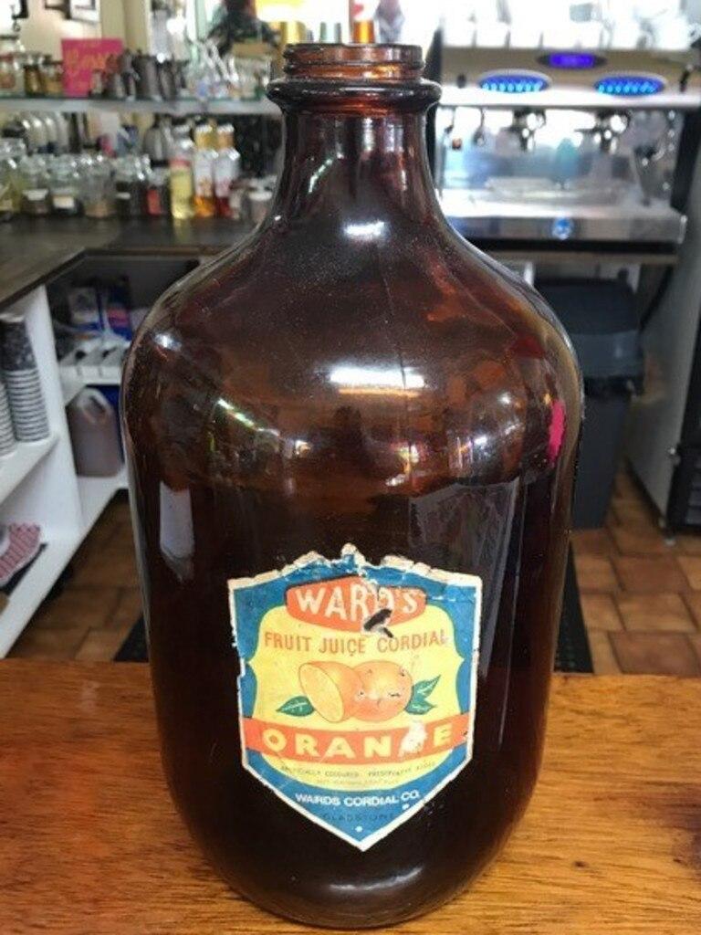 Iconic Gladstone drink brand Ward's bottle.
