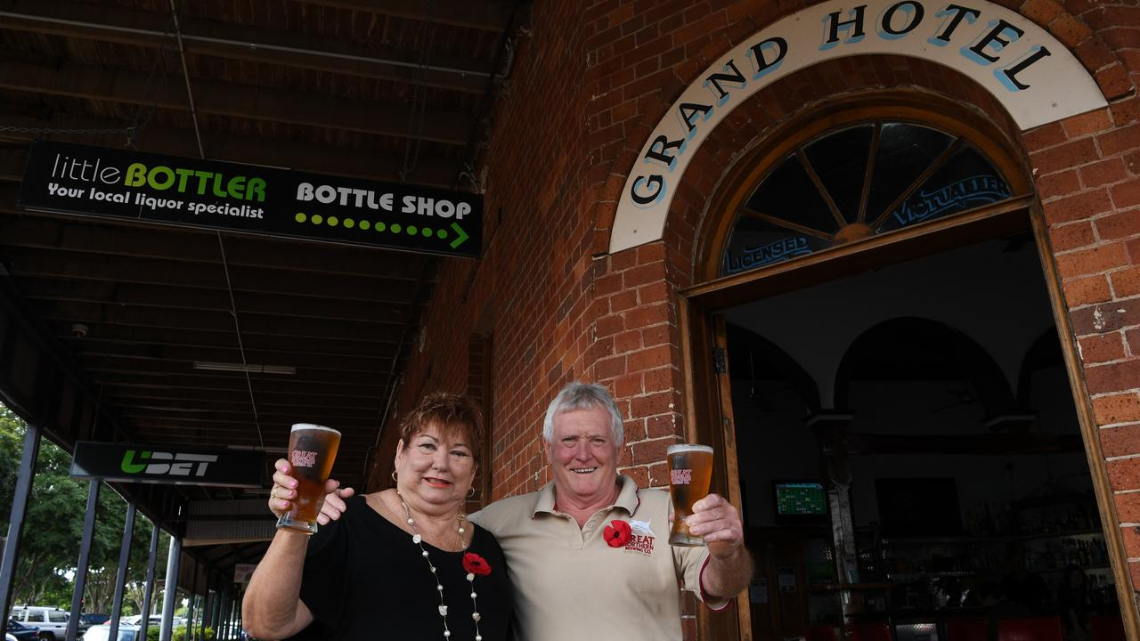 Pam and Dennis Corliss from the Grand Hotel in Childers.